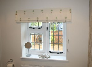 Roman Blind in a Surrey Bathroom