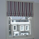 Roman Shade in a London Boys Bedroom