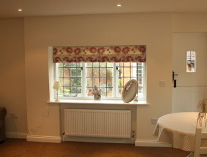 Roman Shades in Berkshire Lounge