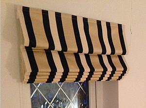 Handmade easy Roman Shades for Sewing Enthusiasts